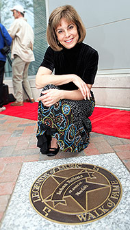 JoAnn at her Star on the Walk of Fame